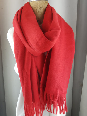 Red shawl, Cashmere Blend