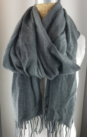 Charcoal Gray shawl,  Cashmere Blend