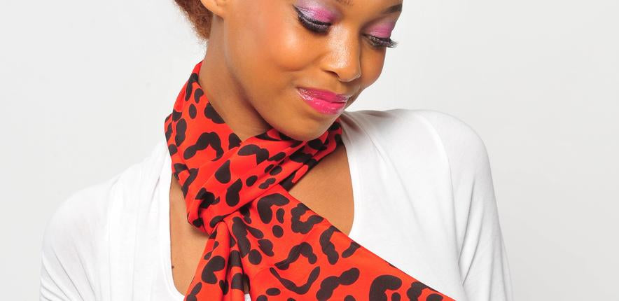 Two Tone Silk Velvet Scarf