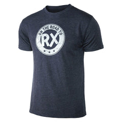 Men's crossfit gift idea - On the Road to Rx - Navy Blue - Men's Triblend T-Shirt