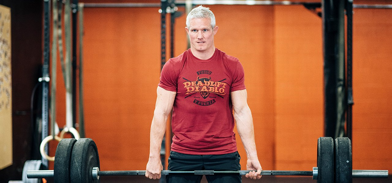 Crossfit Weightlifting Deadlift Athlete Photo - Jumpbox Fitness T-shirt - Deadlift Diablo