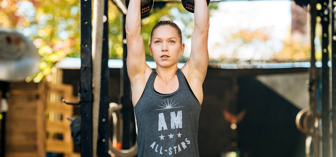 Crossfit Kettlebell Athlete Photo - A.M. AM All-Stars Tank Top by Jumpbox Fitness
