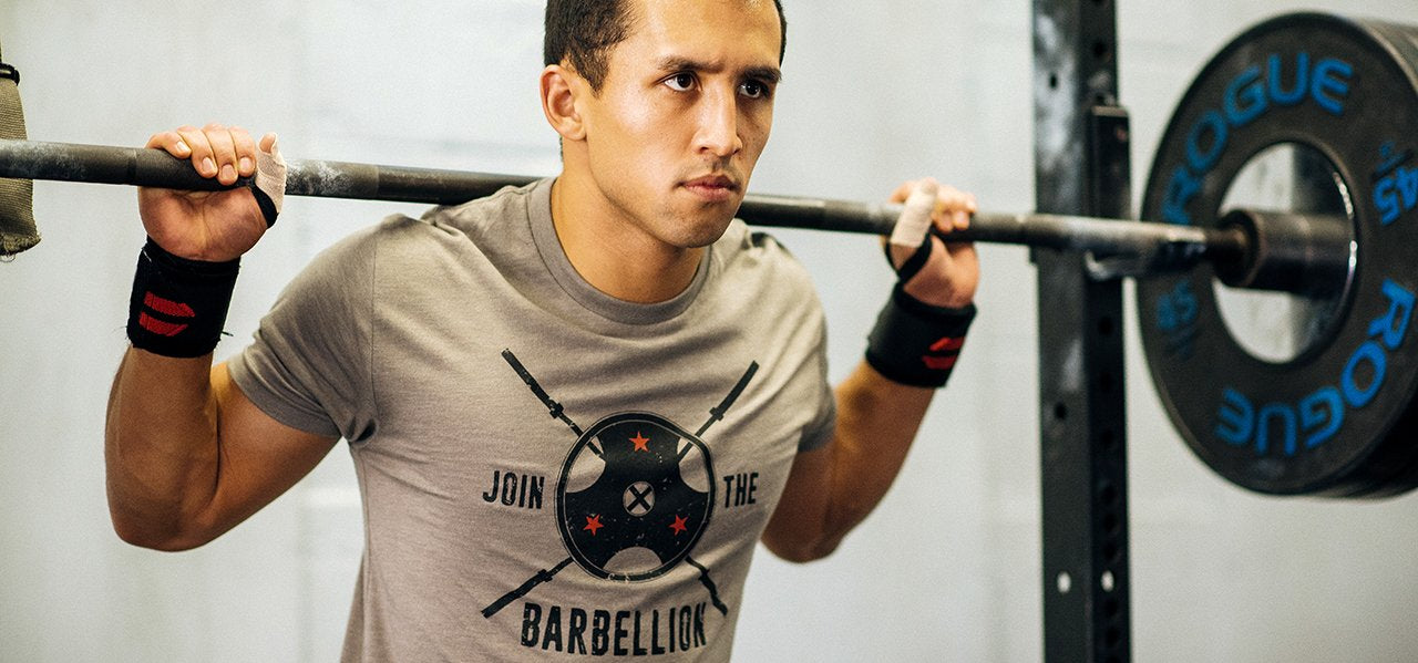 Crossfit Athlete Photo - Barbellion Barbell Weightlifting T-shirt by Jumpbox Fitness