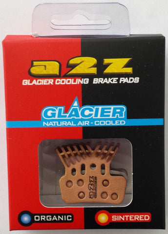 A2Z brake pads - GOLD<br>Sintered GLACIER