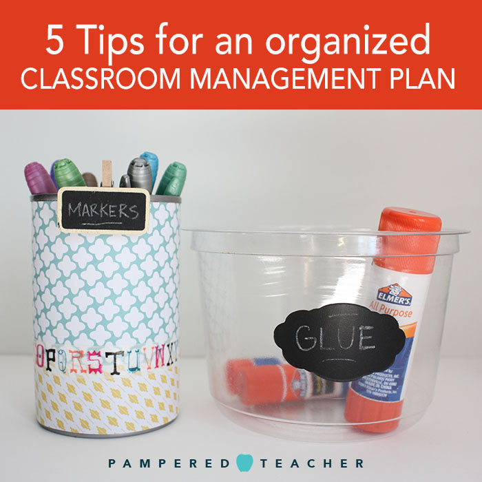 Ideas for organizing a classroom and managing workflow from http://PamperedTeacher.com