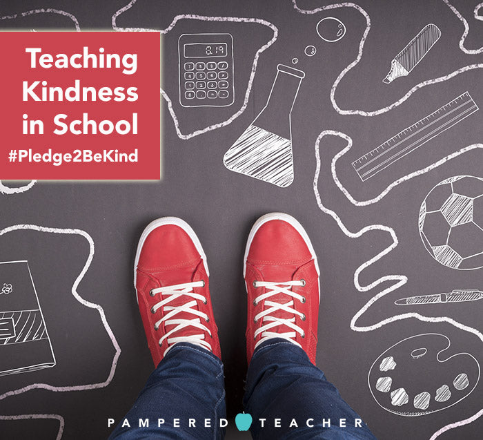 Ideas, activities and curriculum for random acts of kindness for kids including books on teaching empathy. Read all on the Pampered Teacher blog