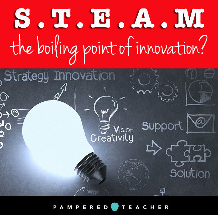 Is STEAM the boost that will bring innovation to science, technology, engineering and math curriculum? Find out more on the Pampered Teacher blog