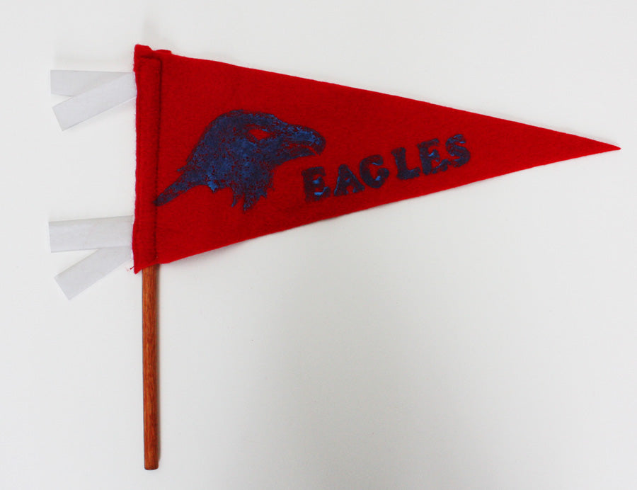DIY school spirit pennant