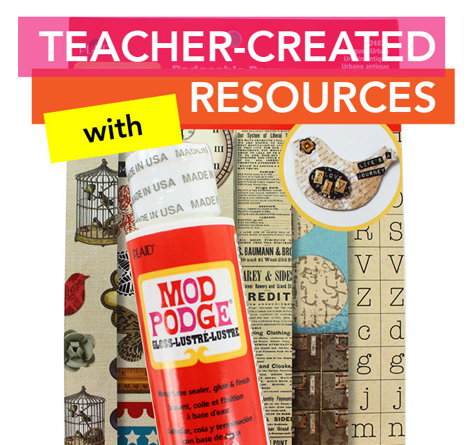 Preschool games made with Mod Podge that help with letter identification and beginning sounds