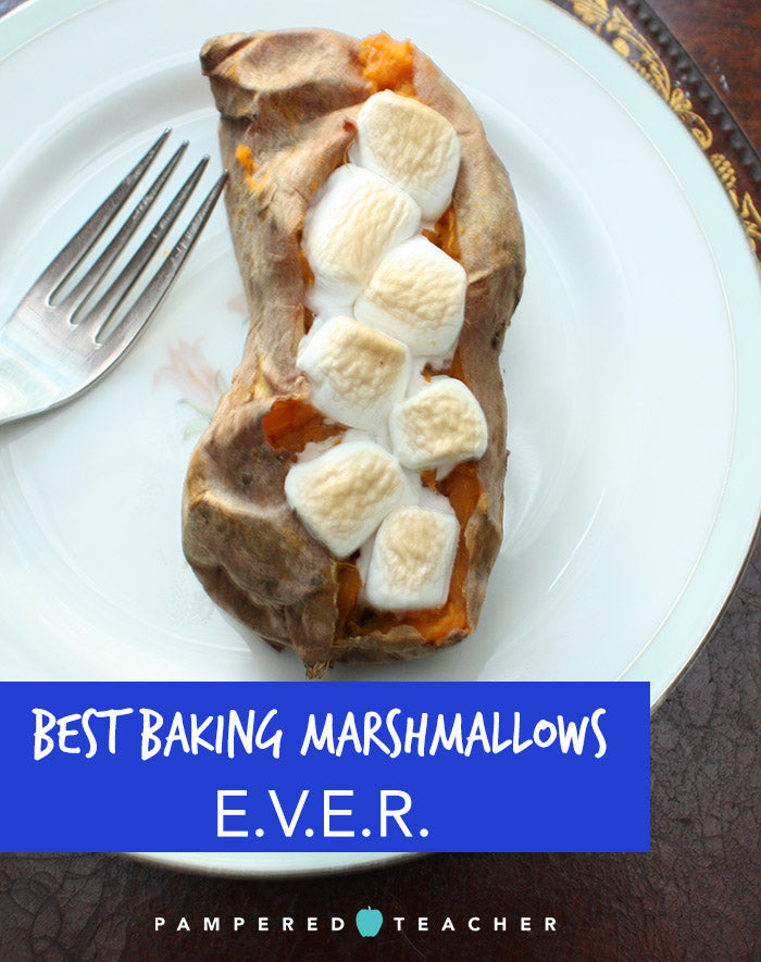 Best gourmet marshmallows for sweet potato casserole recipes, vegan, all natural and gluten free - get samples in the Pampered Teacher subscription box