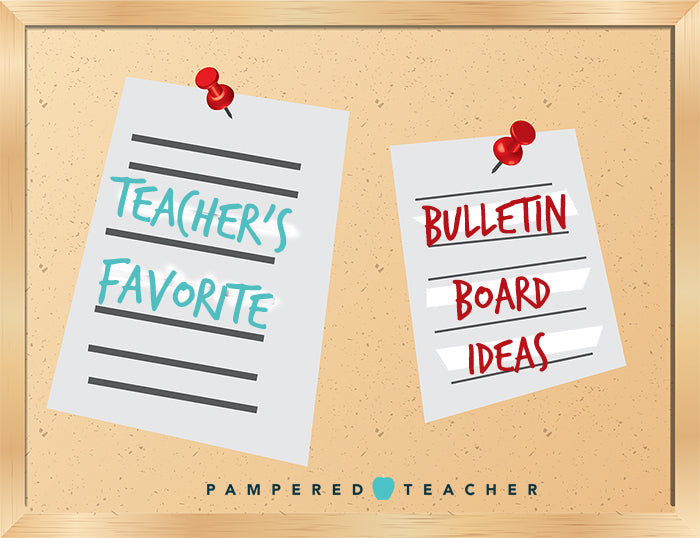 Bulletin board ideas for teachers to organize and decorate the classroom from Pampered Teacher an online store for teacher gifts and subscription boxes for teachers