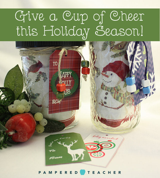 DIY gift set for hot cocoa, coffee and tea lovers with a mug rug from Steeping Secrets