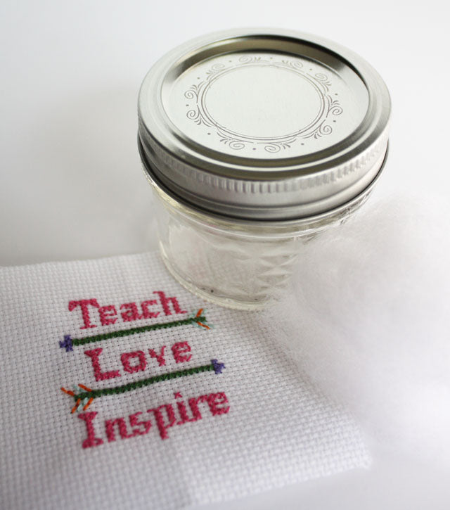 DIY cross stitch kits for book lovers and teacher gifts for end of year or back to school
