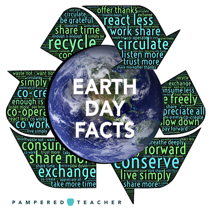 Earth Day Facts to reduce, reuse, recycle, forest conservation and Tropical Rainforest Facts from Pampered Teacher