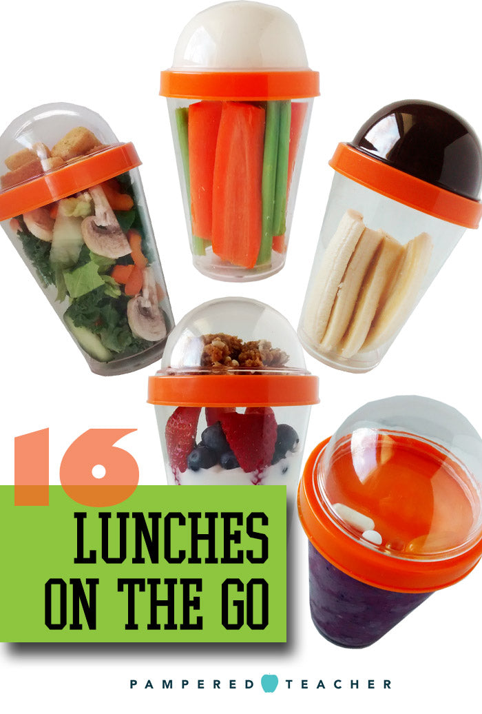 Easy lunch ideas using a reusable parfait container being featured in upcoming Pampered Teacher subscription boxes