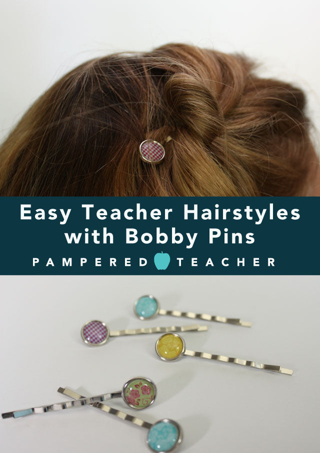 easy hairstyles with bobby pins | how to wear decorative bobby pins