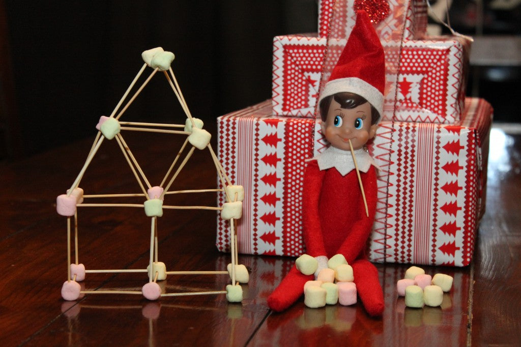 Elf on the shelf ideas with marshmallows that kids or students could make and build, see all on the Pampered Teacher blog