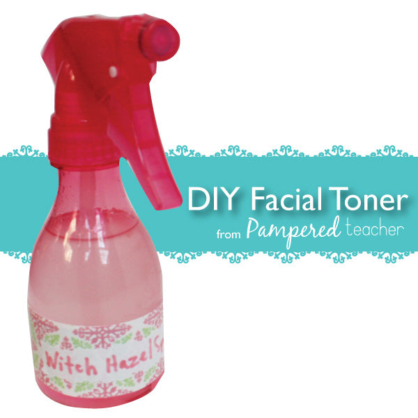 DIY facial toner recipe from Pampered Teacher