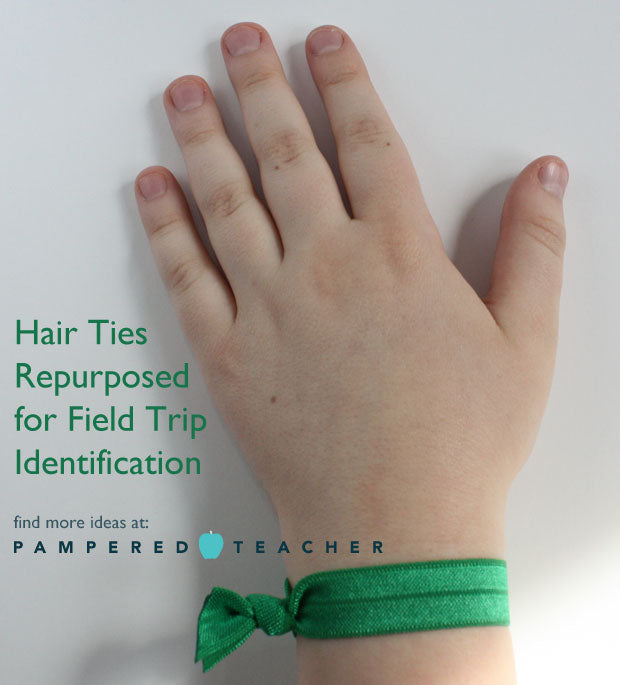 Repurpose a fashion hair tie for #teachers #educators from Pampered Teacher