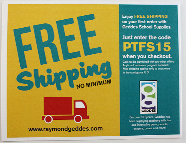 online parent teacher store Geddes offers free shipping - get the coupon code at Pampered Teacher