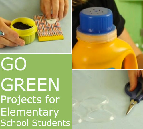 Earth Day Go Green Week projects for school kids #teachers #earthday #ecocrafts