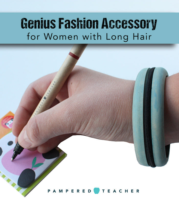 Hairdos for long hair that are easy with this genius fashion accessory being featured in the Pampered Teacher subscription boxes
