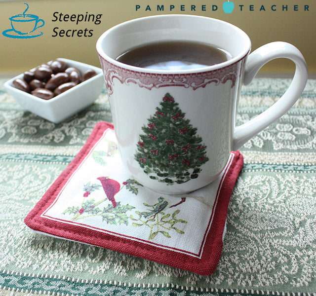 scented mug rug from Steeping Secrets set of 4, $14.99 makes great teacher gifts