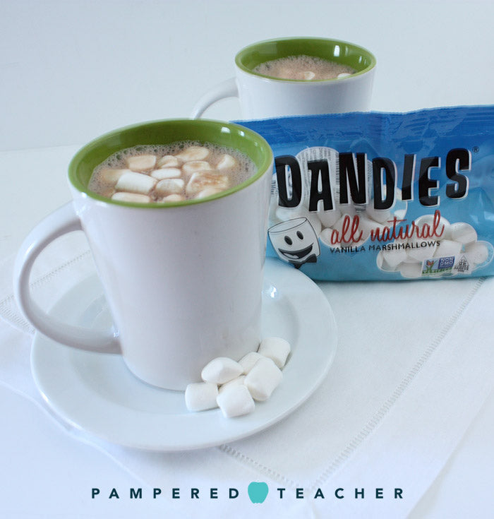 Recipes and fun ideas with all natural marshmallows from Dandies featured in upcoming Pampered Teacher subscription boxes