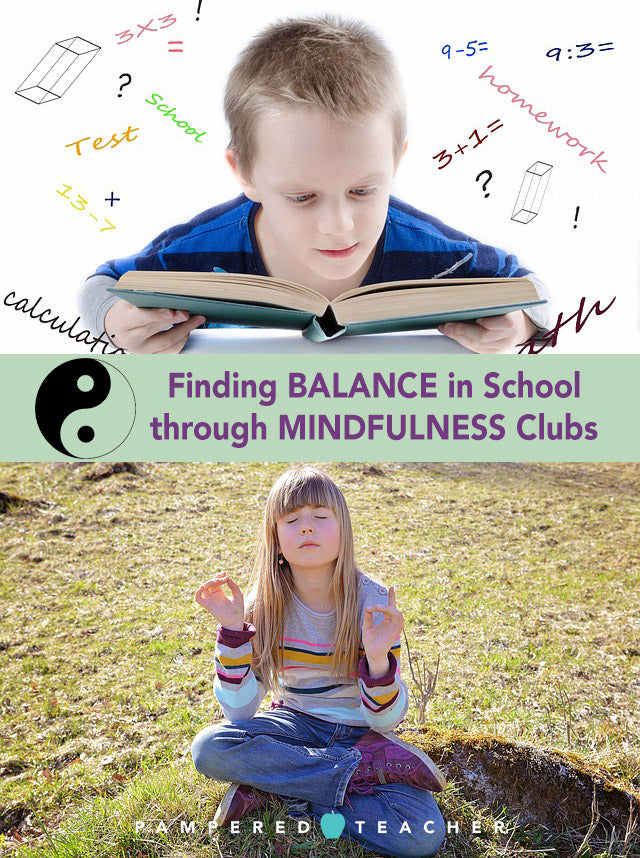 Mindfulness clubs for schools to teach relaxation, meditation and soothing ways for students and teachers to start the day