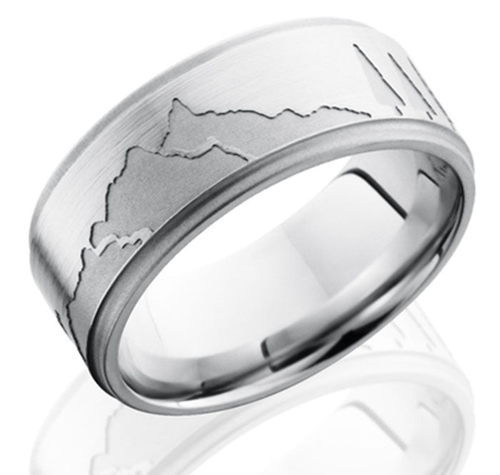 Holiday gift ideas for teachers who love the outdoors. Find titanium rings and bands with outdoor themed prints like antlers, buffalo, camouflage and more