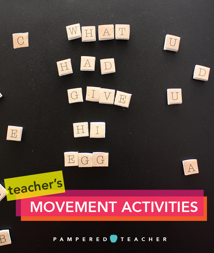 Movement activities for kids that incorporate fun learning, teaching resources make with Mod Podge | see all 8 games on the Pampered Teacher blog