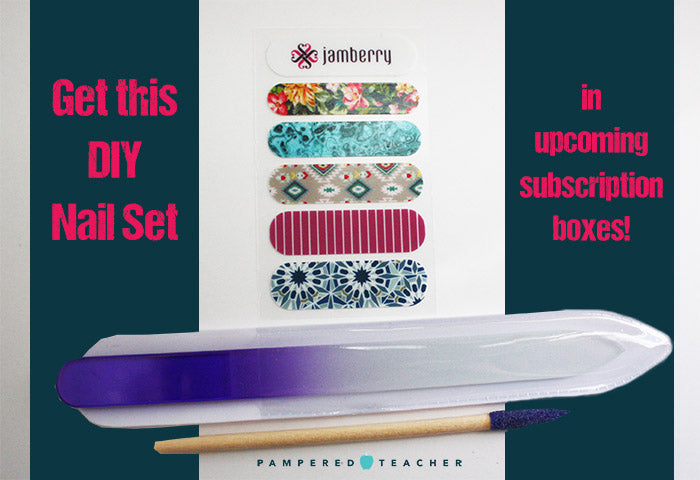 Jamberry nail wraps sample set to be featured in the Pampered Teacher subscription box