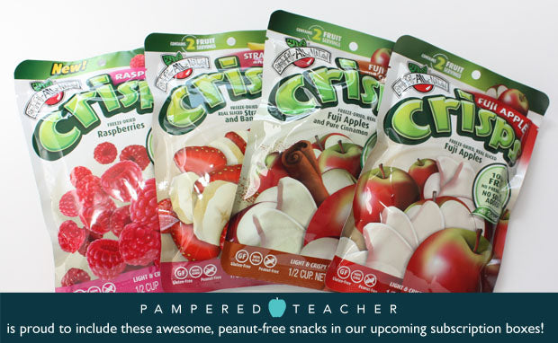 @BAN_News freeze dried fruits and Pampered Teacher Box partner to bring teachers a healthy, peanut-free classroom snack!