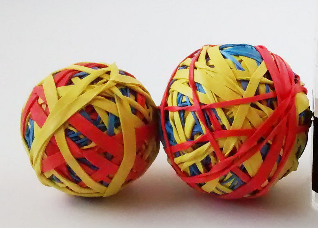 Rubber band ball club at school promotes mindfullness and relaxation