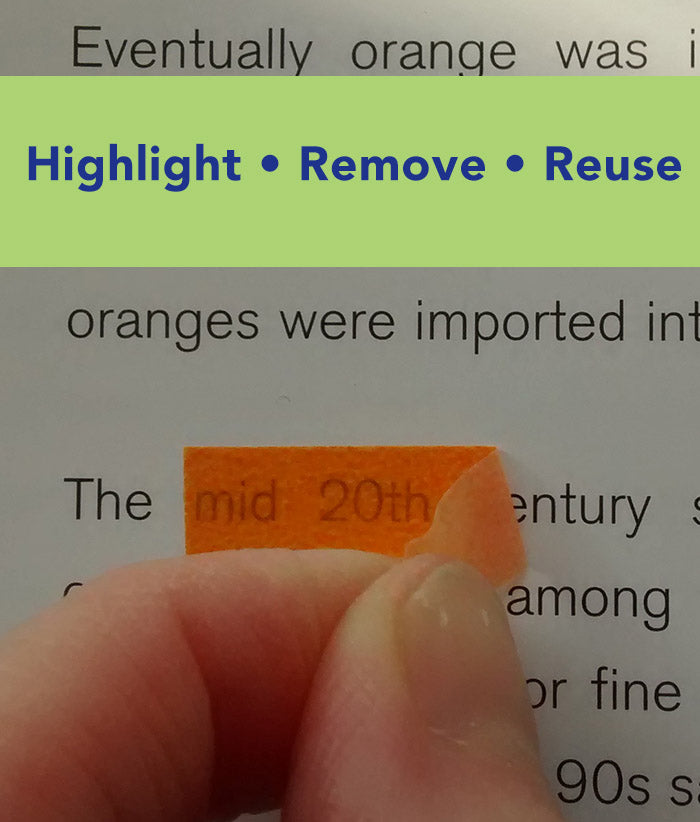 New school supply must have - Highlight, remove and reuse highlighter tape that won't damage books or homework pages