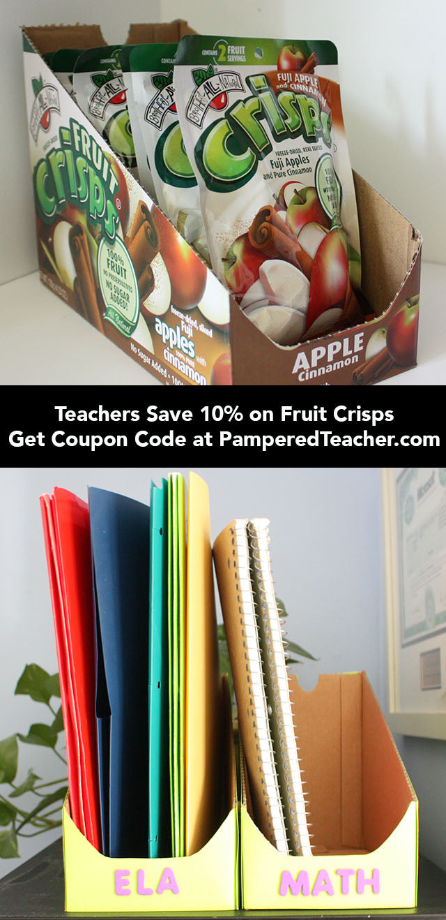 Save on Brothers All Natural Fruit Crisps peanut-free, gluten free snacks with 10% off with coupon code PamperedTeacher10