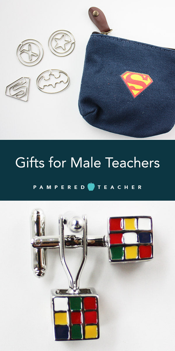 gifts for guys for Father's day or for male teachers - fashion, geek, superheroes and Rubik's cube from Pampered Teacher