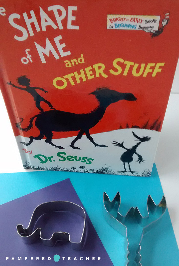 Crafts and Classroom ideas for celebrating Dr. Seuss such as making shapes to go along with his book, The Shape of Me and Other Stuff
