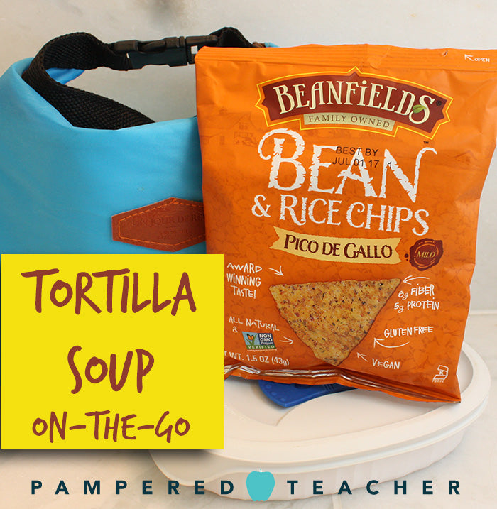 Chicken tortilla soup and vegetarian tortilla soup recipes for the slow cooker, visit the Pampered Teacher blog to get these easy meal recipes for families on the go