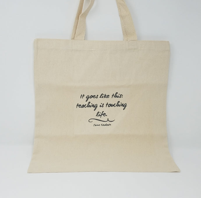Canvas Tote with a Quote