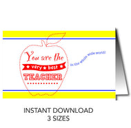 Teacher's Day Card - Instant Download