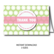 Thank You Card for Teacher - Instant Download