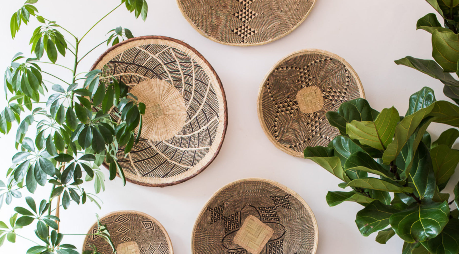 Wall Baskets Woven In Africa Decorative Wall Platters The Basket Room