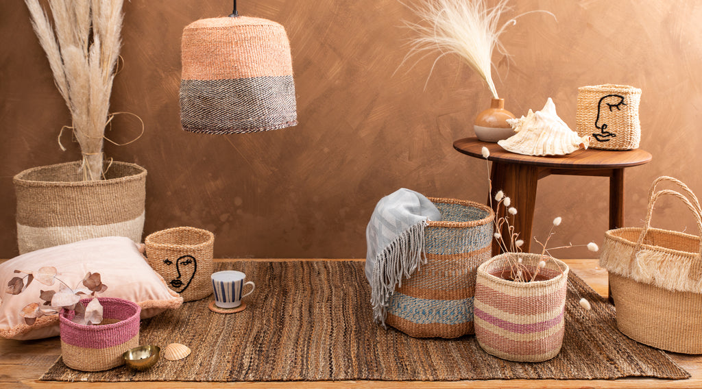 SS21 TREND NOURISH: collection of natural baskets handwoven in africa