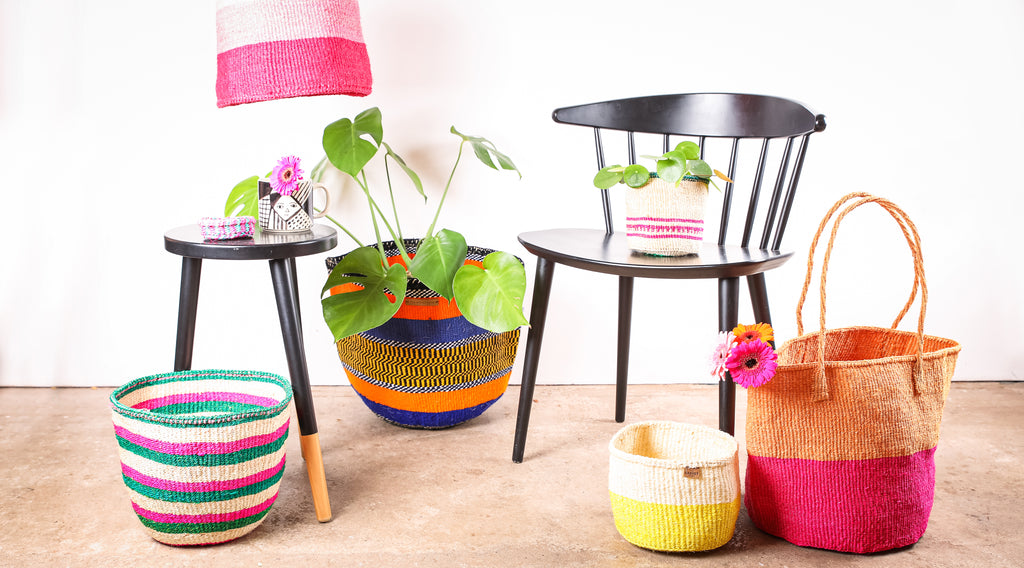 SS21 TREND ARTYSAN: collection of bright & bold baskets handwoven in africa