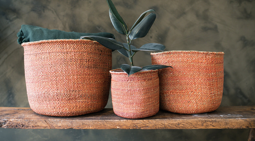 naturally dyed baskets