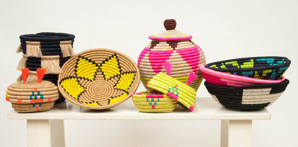 The Basket Room Rwanda Basket Electric Weave Bright