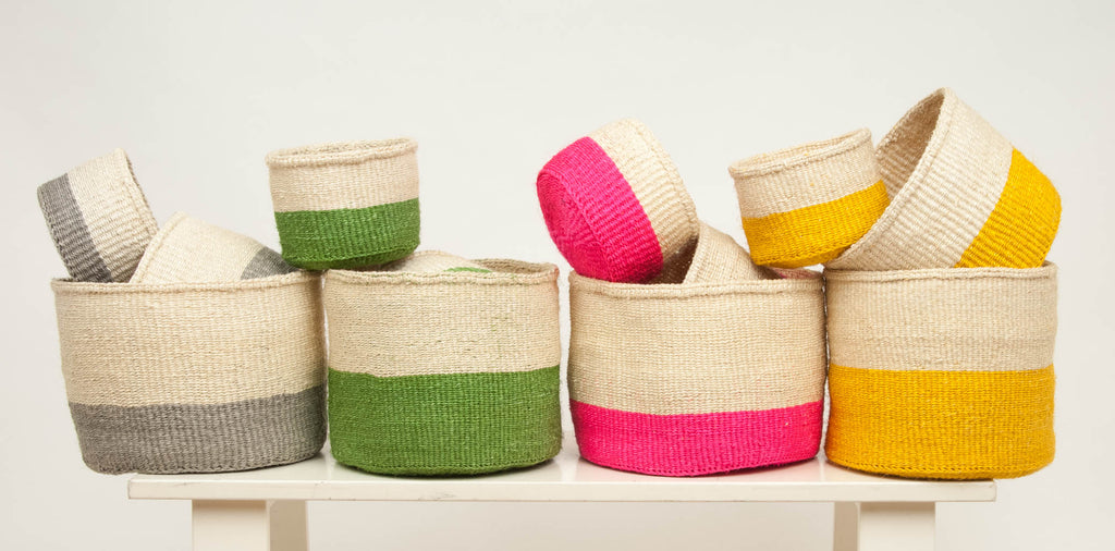 THE BASKET ROOM BRIGHT STORAGE BASKETS