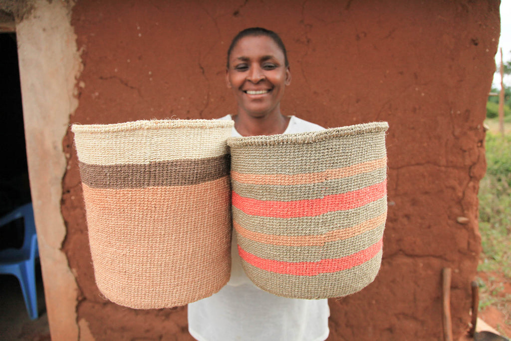 The Basket Room Weaver in Kenya