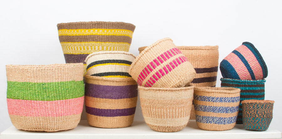 Unique Kenyan sisal baskets